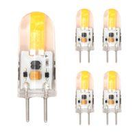 Wholesale 5pc Led Warm - Wholesale- 5pc Dimmable GY6.35 LED lamp DC 12V Silicone LED COB Spotlight Bulb 2W 1505 COB light Replace 15 20W halogen lighting