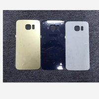 Wholesale Oem Back Cover - 100% OEM New No Scratch Glass Battery Cover Rear Back Door Case For Samsung Galaxy S6 G920 G920F G920A G920T