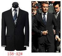 Wholesale Slim Fit Business Suits - Black suits men luxury brand latest coat and pants business uniform slim fit working blazers dropship