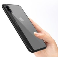 Wholesale Handy Case Wholesale - For iphone X Case Silicone Ultra-thin Transparent Luxury Protector Cover Aluminium Mobile Cell Phone Cases Soft Handy Fashion