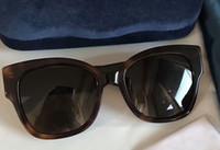 Wholesale Interlocking S - Women Designer Havana Brown Acetate Square 0059 S Sunglasses Studs Interlocking G Mustard luxury brand sunglasses new with box