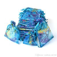 karışık şeker poşetleri toptan satış-İpli Organze çanta Hediye ambalaj çantası Hediye çantası Takı kılıfı organze çanta Şeker çanta paketi çanta mix renk
