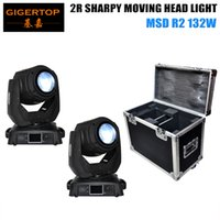 Wholesale Plastic Flight Cases - TIPTOP 2pcs Sharpy Beam 132W Beam 2R Moving Head Light with Flight Case package Aluminium structure with die-cast plastic cover
