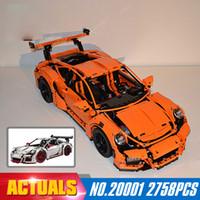 Wholesale Model Cars Kits - New LEPIN 20001 20001B 2704Pcs Technic series Super Race Car Model Building Kits Blocks Bricks Compatible 42056 Boys Gift