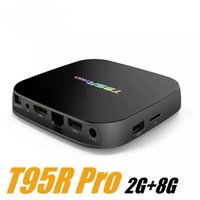 Wholesale t95r pro online - T95R PRO G G Box TV Android Amlogic S912 Octa core Support WiFi Bluetooth Smart Media Player