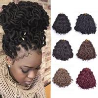 Wholesale Synthetic Water Wave - Afro Crochet Water Dreadlocks Hair Synthetic Crochet Braiding hair Havana Twist Jumbo Braiding 12 inch kanekalon Fiber Faux Locs 24roots lot