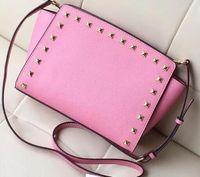 Wholesale Womens Rivet Purse - Fashion Classic brand womens handbag top quality pu shoulder bags Rivet bag purse free shipping