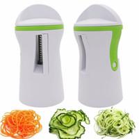 Wholesale vegetable slicers for sale - Group buy Multifunction Portable Fruit Spiral Vegetable Slicer Spiralizer