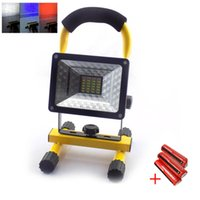 Wholesale floodlight battery for sale - High Brightness Waterproof W LM Modes LED Floodlight Rechargeable Outdoor Flood Spot Light LED Work Emergency light with battery