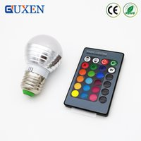 Wholesale Spot Luz - E27 RGB Led Lamp Bulb AC110V 127V 220V LED Light RGB 5W Spot Light 16 Color Change Dimmable Lampada Led Luz + Remote Control