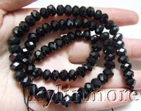 Natural black spinel rondelle - 8SE09715a mm Black Spinel Faceted Rondelle Beads