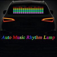 Auto Music Rhythm Lamp Sound Musica Voice-activated Lampeggiante Colorato LED LED EL Sticker Autoadesivi Accessori Esterni