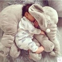Wholesale Cute Birthday Gifts For Girls - girl birthday gifts 1Pcs 60cm Cute Elephant Plush Toys Cute Dolls Soft Pillows Baby Sleeping Pillow doll Girl's birthday gifts for Children