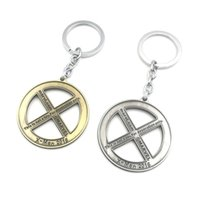 Wholesale Metal News - 2016 News Movie X Logo Key Chain Metal Alloy Keychain Keyrings Wholesale 10pcs lot