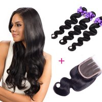 Wholesale Hair Brazil Extension - Wholesale price Real hair best hot sale in brazil natural human hair extension 3 bundles body wave with closure