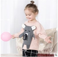Wholesale Mouse Children Sweater - INS children knitting sweater 2017 new autumn winter little boys and girls stereo small mouse pullover kids long sleeve clothes C0835