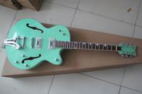 Wholesale Green Electric Jazz Guitar - Wholesale Top quality jazz electric guitar green large rocker guitar