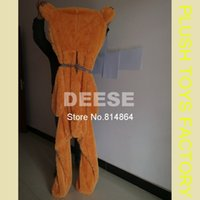Wholesale Empty Teddy Bear Skins - Wholesale- 160cm teddy bear empty shell coat bear skins Light purple with zipper Christmas Valentine's Day, birthday Gifts