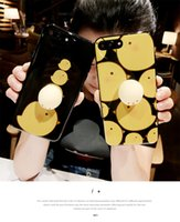 Wholesale apple chicken for sale - Group buy Lovely D Soft Yellow Chicken Squishy Phone Case For iPhone Plus Plus Case Cate Cartoon TPU Silicone Back Cover Capa