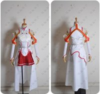 Sword Art Online Asuna Yuuki Dress Cosplay Costume Qualsiasi dimensione su misura