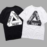 Wholesale PALACE T Shirt Men Women Short Sleeve Summer Cotton Tees Palace Skateboards Tri Ferg White Black Shirt Floral Triangle Tees YBG0301