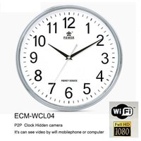 1080P Uhr Spion Kamera P2P WIFI runde Wanduhr versteckte IP-Kamera Full HD Videorecorder Wireless Remote Monitor Home Security Nanny Kamera