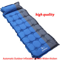 Wholesale car stuff - Newest Automatic Outdoor Inflatable Cushion Widen thicken Single Person Pad Sleeping Bed Camping Air Mattress 63*186*5CM WX-P02