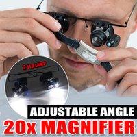ingrosso pollice della fascia-New 20x Magnifier Headband Lenti a forma di lente d'ingrandimento