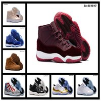 Wholesale Designer Real Leather - 2017 Retro 11 Basketball Shoes Mens Bred Citrus Concord Bred Georgetown GS Sneakers Designer Low Retro XI 11s For Men Real Authentic Quality
