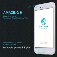 Wholesale Nillkin Iphone Screen Protector - For iphone 8 8 plus Screen Protector Nillkin Amazing H   H+Pro 9H hardness Anti-burst Tempered Glass Protective Flim For iphone 8