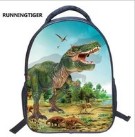 Wholesale Wholesale Wheeled Backpacks - Wholesale Cool Boys 14inches Printing Animal Dinosaur Kids Baby gift Bags Children School Bag for Kindergarten Backpack Boys School bag C070