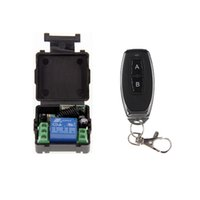 Mini Tamanho DC 12V 1CH 1CH 10A RF Wireless Controle Remoto Switch System, (Receptor + Transmissor), A = ON B = OFF, Latched