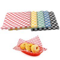 Wholesale Sandwich Wraps - 2pack 48pcs Wax Paper Printed Food Grade Grease Paper Food Wrappers Paper For Bread Sandwich Burger Fries Wrapping Free shipping
