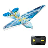 Wholesale Remote Controlled Flying Birds - Wholesale-Flying Avitron Bionic Blue Bird Ornithopter RC Remote Control Toy PVC Flying Bird Hot Selling Great Children Rc Flying Toy