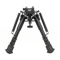 Taktische 6-9 Zoll Butterfly Stativ Rotation Lock Metall Bipod mit 21,2mm Quick Abnehmbare Mount Adapter für die Jagd CL17-0035