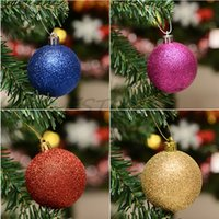 Christmas Tree Ornament orange xmas tree - 24pcs Merry Christmas decor Ball bauble Xmas Tree Decoration Hanging Drops home Party New Year Ornaments ball for trees