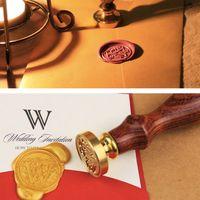 Wholesale Copper Envelopes - Wholesale- Copper Wax Badge Stamp Kit envelope seal A-Z Alphabet Initial Letter for letter gift card