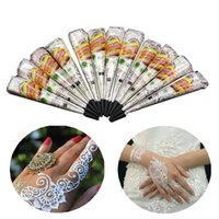 Wholesale temporary indian tattoos online - White Natural Indian Henna Tattoo Body Art Painting Temporary Tattoo Cream Paste Cones For Wedding And Festival Mehndi Tattoo Cream DHL Free