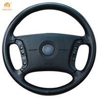 Wholesale Bmw Wheel E39 - Mewant Black Artificial Leather Car Steering Wheel Cover for BMW E46 318i 325i E39 E53 X5