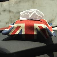 Wholesale Tissue Boxes For Cars - Car Tissue Box Cotton Napkin Storage Holder Jack Union for Mini Cooper One S Clubman Paceman Countryman R55 R56 F56 R60 F55 F56