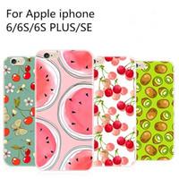 handgemalter apfel großhandel-Für apple iphone 7 plu 6 6s plus se handbemalte luxus ultradünne beschichtung kristallklare tpu silikon case handy cases