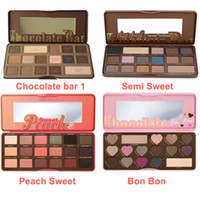 Wholesale Natural Smell - Best Quality !!!Brand Makeup Palette Sweet Peach Eye Shadow Chocolate Bar Eyeshadow with Bar semi Sweet Bon bon Smell Palette 16&18 colors