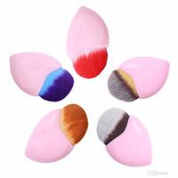 Wholesale Cute Makeup Brushes - New heart mermaid Makeup Brushes Powder Blush Foundation Cosmetic Tool cute heart Contour BB Cream make up Brush