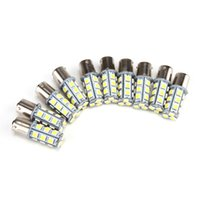 Wholesale Universal Led Side Marker - 10pcs lot 1156 BA15S 5050 Warm White  White 18SMD Replacement Bulb Camper Car Turn Tail Signal Bulb 12v