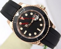 Wholesale Black Sapphire Bracelet - Luxury AAA Brand High Quality Wristwatches 40mm 116655 18K Rose Gold Sapphire Rubber Bands bracelet Automatic Mechanical Mens Watch Watches