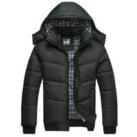 erkekler için kalın kış hoodies toptan satış-Toptan-2016 yeni kış ceket Kalın Tutmak Sıcak Termal Gevşeme Kaburga Uzun Kollu Ceket Parka Erkekler Açık Havada Hoodie Çıkarılabilir Ceketler Parka
