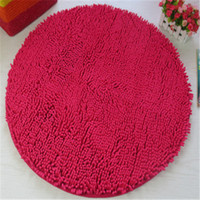 Wholesale Big Rose Bedding - Free Shipping round big rose Washable New Thick chenille Carpet Shaggy Rugs Bath Mat Bathroom Carpet Colours for living bed room antii slip