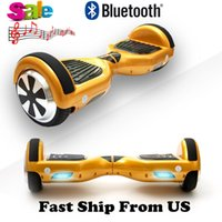 Bluetooth Hoverboard 6.5 polegadas US Stock Scoopers elétricos Smart Balance Wheel Drifting Board Auto-balanceamento Scooter Skateboard On Sale