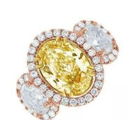 10.00 CTW Ovale Fancy Giallo Halo Oval Cut Diamond Engagement Ring GIA certificato