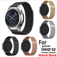 Wholesale milanese loop for gear for sale - Group buy Milanese Loop Watchband For Samsung Gear S3 Classic Strap For Gear S3 Frontier Stainless Steel Band w Magnetic Closure